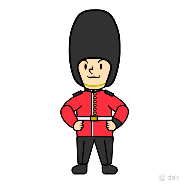 王室の兵隊のイラスト無料素材