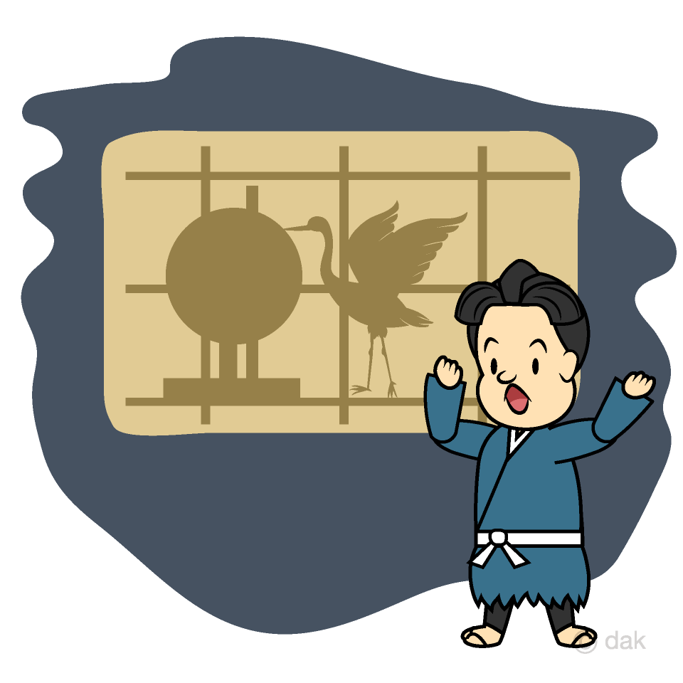 鶴の恩返しの無料イラスト素材イラストイメージ