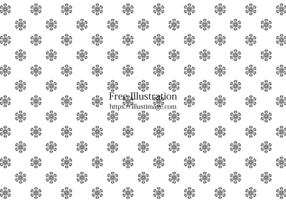 モノトーンの雪結晶壁紙の無料イラスト素材イラストイメージ