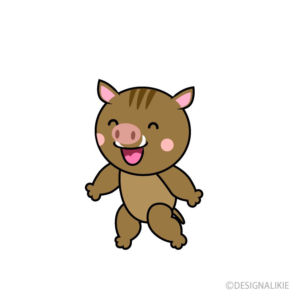 喋る猪キャラの無料イラスト素材イラストイメージ