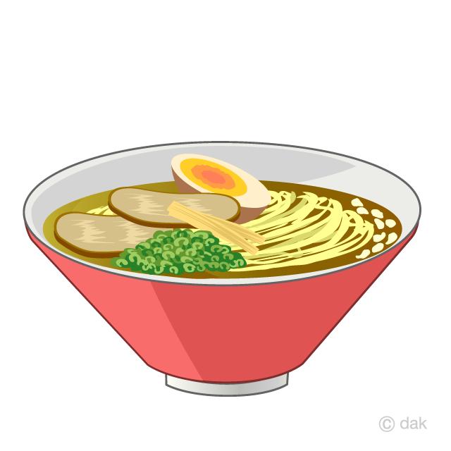 醤油とんこつラーメンの無料イラスト素材イラストイメージ