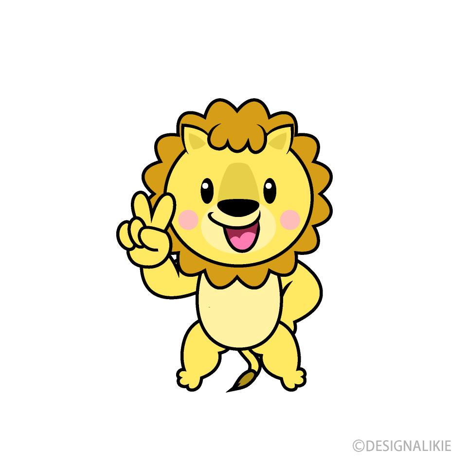 歌うライオンキャラの無料イラスト素材|イラストイメージ