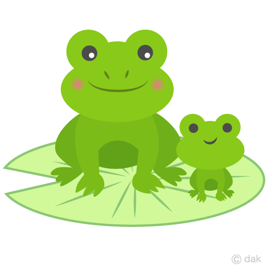 Parent and child frog