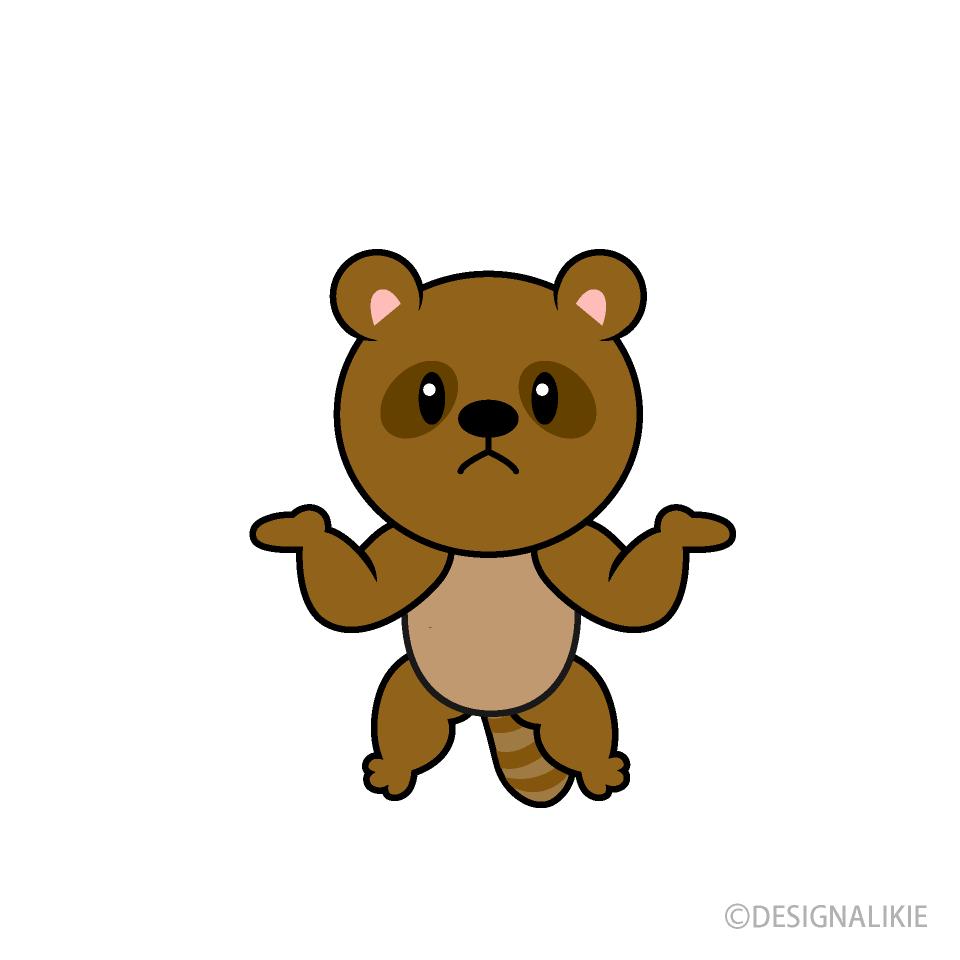 お腹いっぱいの狸キャラの無料イラスト素材|イラストイメージ
