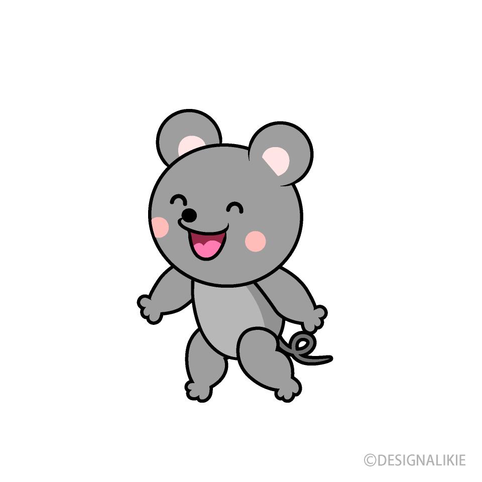 しゃべるネズミキャラの無料イラスト素材|イラストイメージ