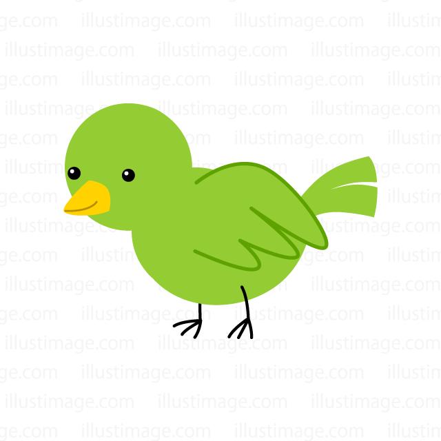 可愛い小鳥の無料イラスト素材イラストイメージ