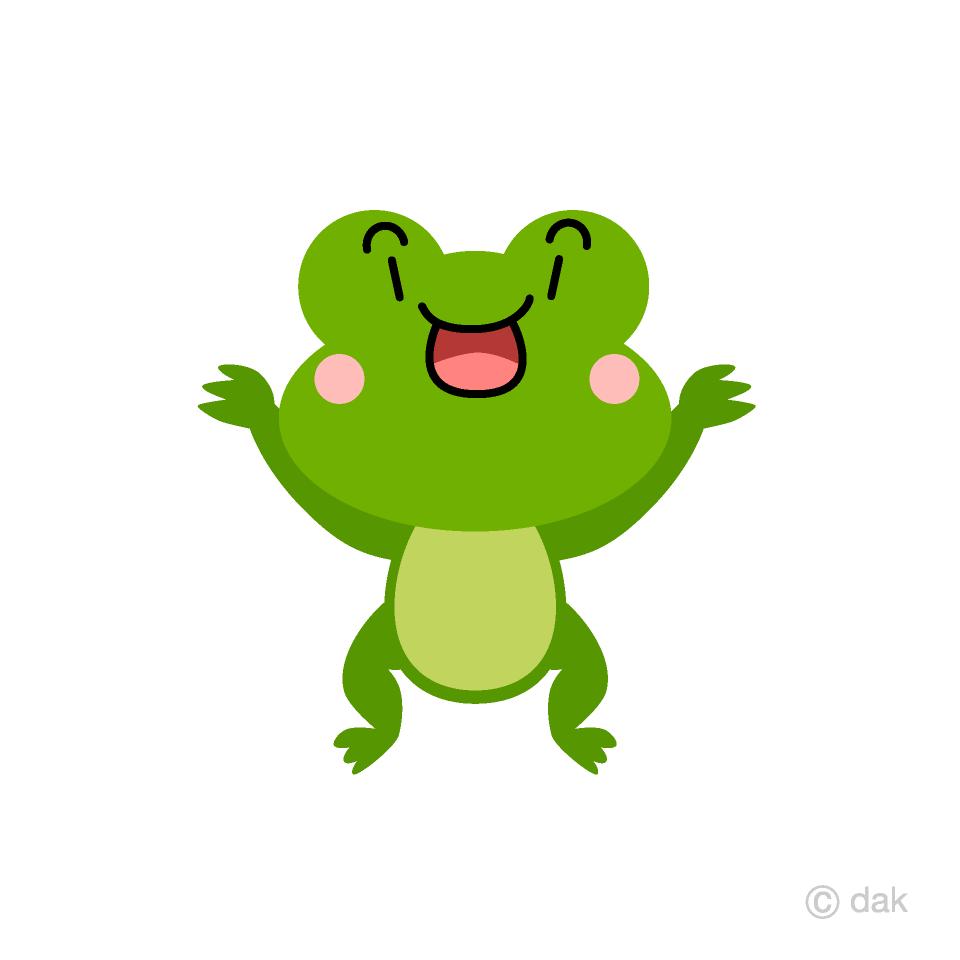 びっくりするカエルキャラの無料イラスト素材 イラストイメージ