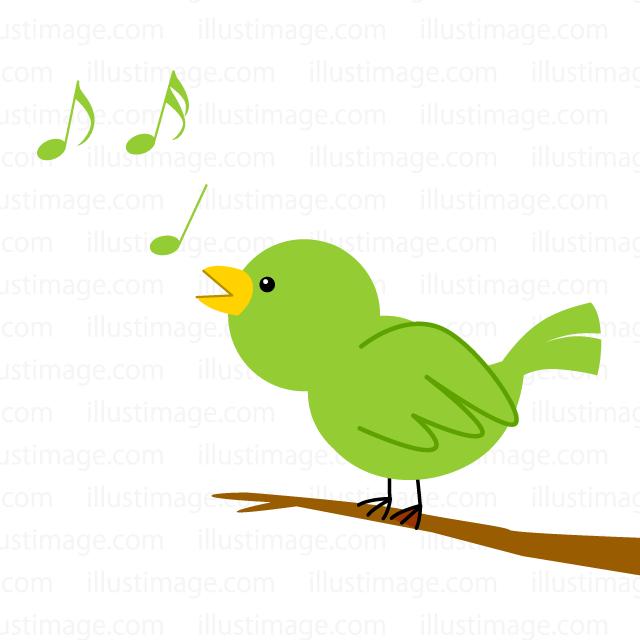歌う小鳥の無料イラスト素材イラストイメージ