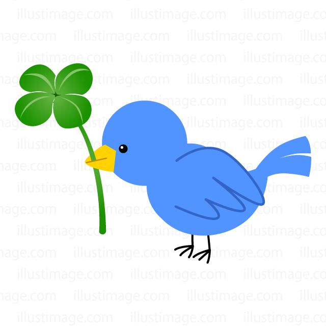 幸せの青い鳥の無料イラスト素材イラストイメージ