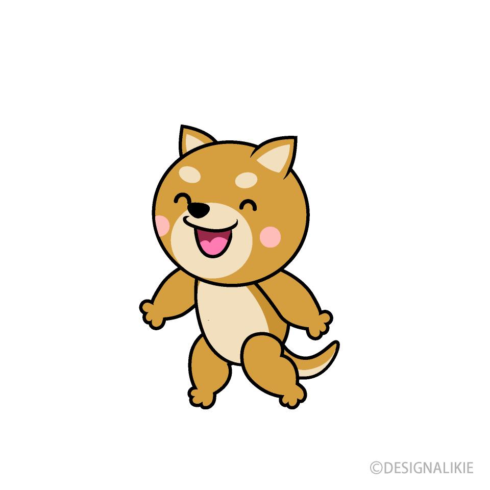 しゃべる柴犬キャラの無料イラスト素材|イラストイメージ