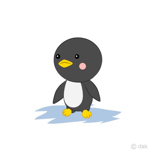 可愛いペンギンキャラクターの無料イラスト素材イラストイメージ