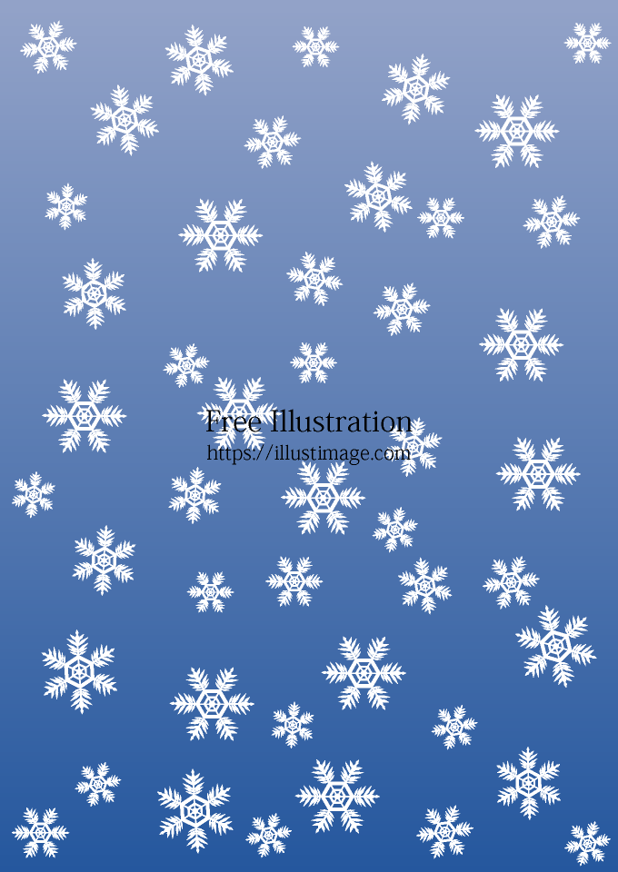 舞い降る雪結晶の背景画像の無料イラスト素材イラストイメージ
