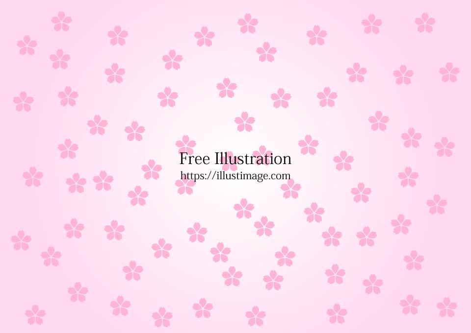 桜花びら模様の壁紙の無料イラスト素材イラストイメージ