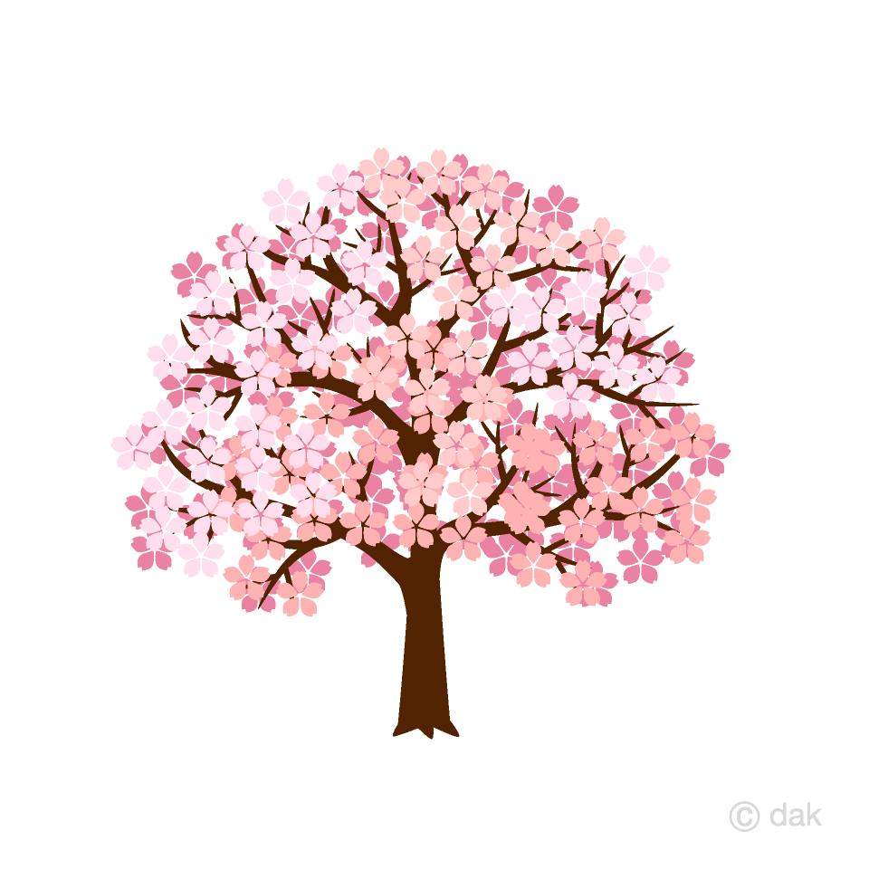 綺麗な桜の木の無料イラスト素材イラストイメージ