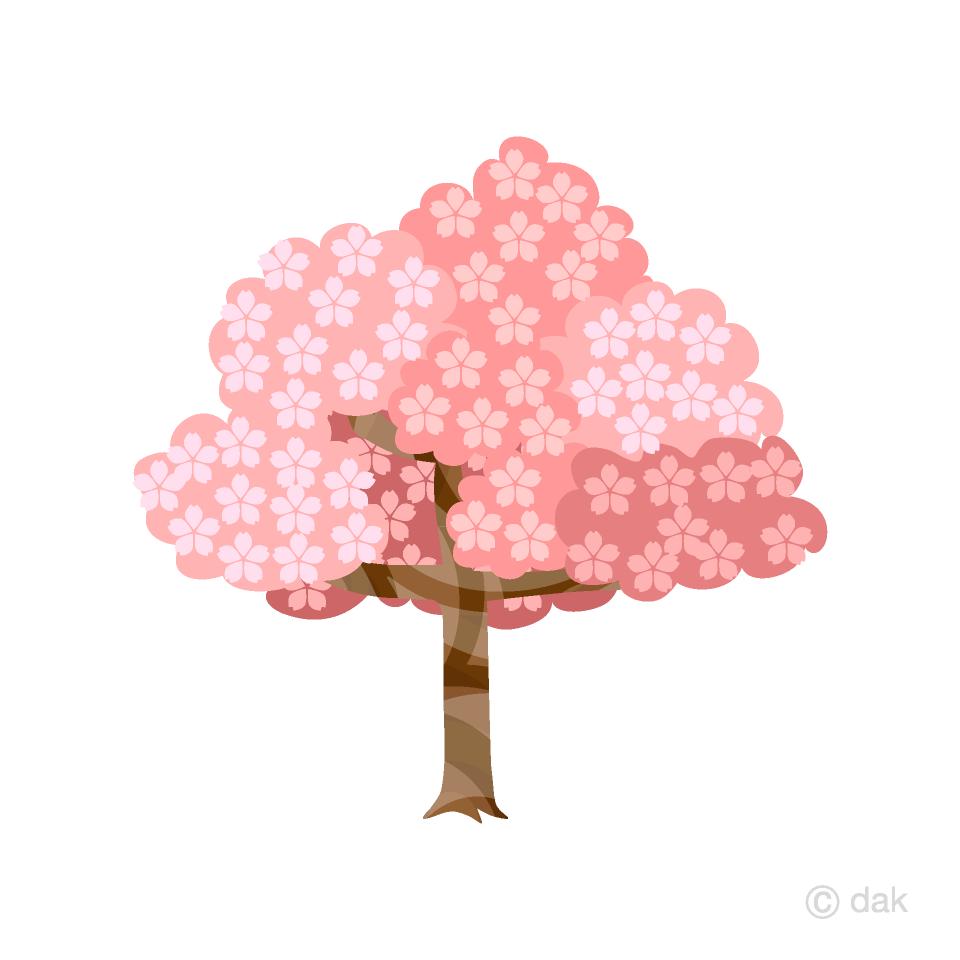 昔話の桜の木の無料イラスト素材 イラストイメージ