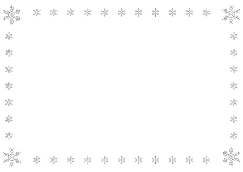 雪の結晶フレームの無料イラスト素材イラストイメージ