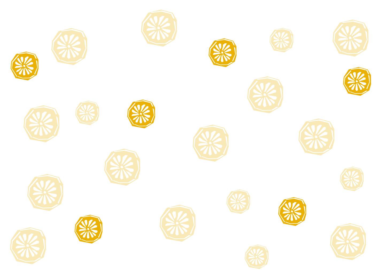 オレンジ柄の無料イラスト素材|iiイラストイメージ