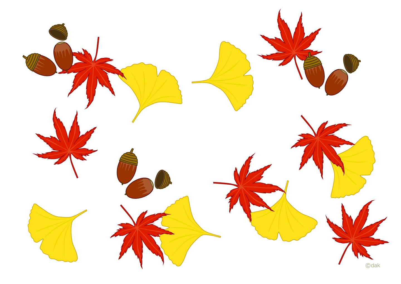 秋イメージのフレームの無料イラスト素材|イラストイメージ