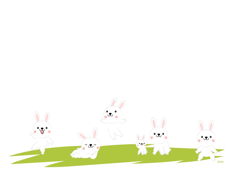 可愛いウサギの壁紙の無料イラスト素材イラストイメージ