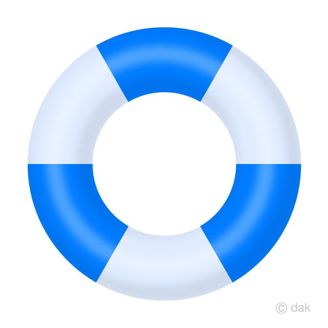 浮き輪の無料イラスト素材イラストイメージ