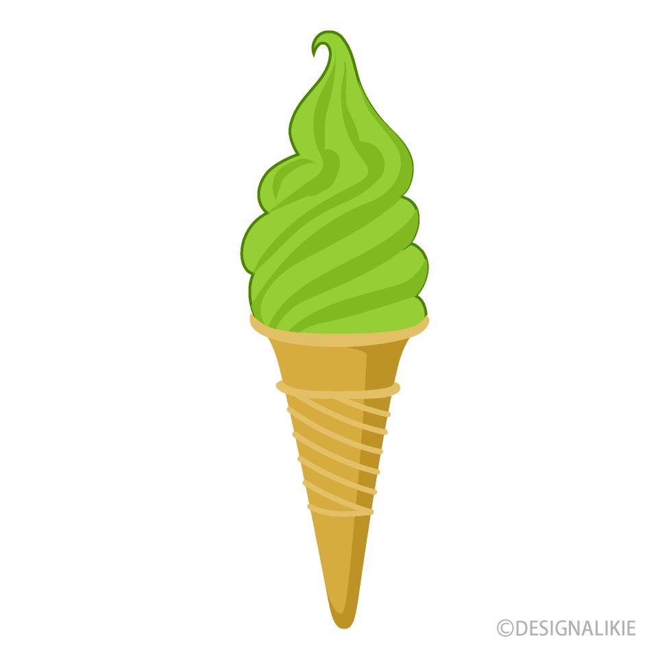 抹茶ソフトクリームの無料イラスト素材イラストイメージ