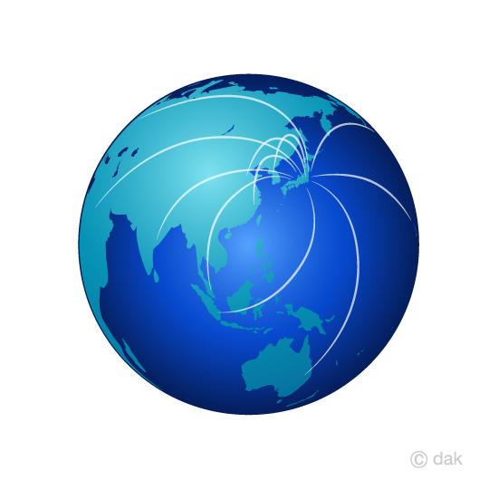まとめ地球のフリーイラスト素材イラストイメージ