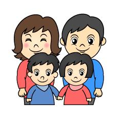 家族の無料イラスト素材集イラストイメージ