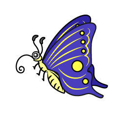 Butterfly character