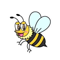 かわいいハチの無料イラスト素材 イラストイメージ