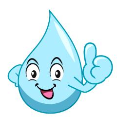 いいね!する水キャラクター