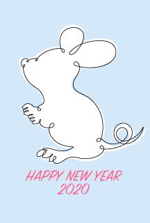 おしゃれな和柄ネズミ年賀状の無料イラスト素材|イラストイメージ