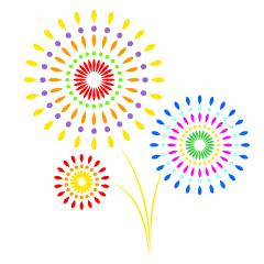 夏祭りの花火の無料イラスト素材イラストイメージ