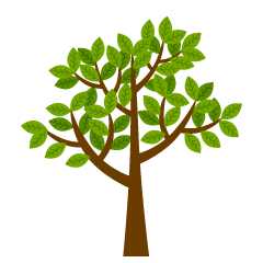 Leaves and trees clip art