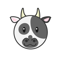 Face of cute cow