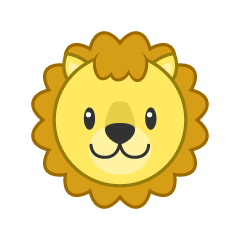 Face of cute lion