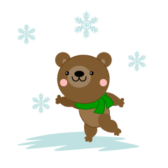 Snow is a fun bear