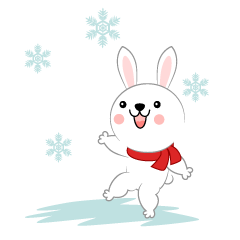 Snow is a fun rabbit