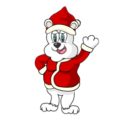 Polar bear of Santa Claus
