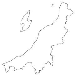 新潟県地図の無料イラスト素材イラストイメージ