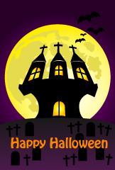 Castle of Halloween card