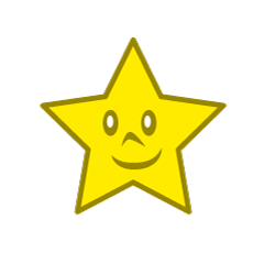 Cute star character