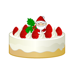 Christmas cake clipart of Santa Claus