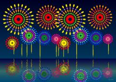 河原・湖の打ち上げ花火