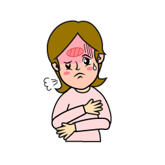 High fever women with influenza