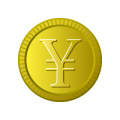 Gold currency in yen currency