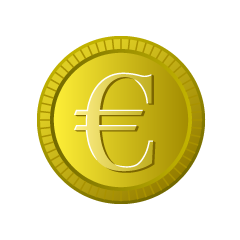 Euro currency coin