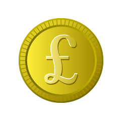 Coin in pound currency