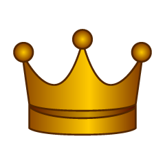 Copper crown clip art