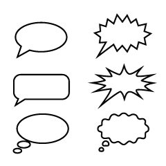 6 kinds of speech bubbles