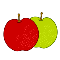Red apples and green apples